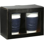 Gift Box Set with Two Blue 11oz Ceramic Tumblers