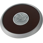 Round Brushed Zinc Coaster