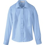 LADIES' YARN-DYED WRINKLE RESISTANT DOBBY SHIRT