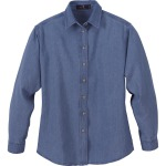 LADIES' DENIM LONG SLEEVE SHIRT