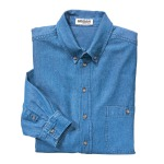 MEN'S DENIM BUTTON-DOWN LONG SLEEVE SHIRT