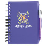 Plastic Cover Notebook with Matching BIC- Media Clic- Ice (pen without imprint included)