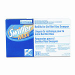 Swiffer 37109   Refill Cloths, 17 3/4 X 10, White, 16/Box, 6/Carton