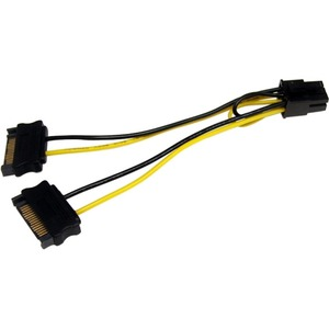 StarTech.com 6in SATA Power to 6 Pin PCI Express Video Card Power Cable Adapter