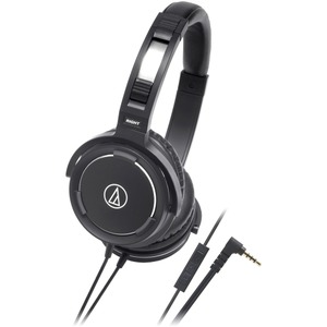 Audio-Technica ATH-WS55iBK Solid Bass Over-Ear Headset for iPod/iPhone/iPad at Sears.com