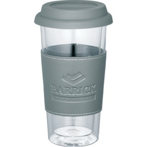 Mega Double-Wall Glass Tumbler With Wrap