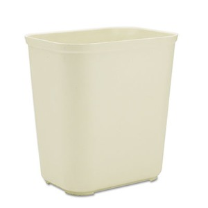 Rubbermaid-Beige Fiberglass Fire Resistant Wastebasket, 28 Quart