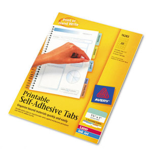 Avery printable tabs 16283 surge corp promotional for Avery template 16281