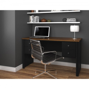Bestar Somerville Executive desk with two pedestals
