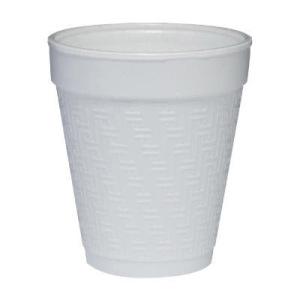 Dart Small Foam Drink Cup, 8 Oz., Hot/cold, White W/embossed Greek Key Design, 25/bag at Sears.com