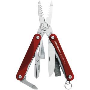 Leatherman LEATHERMAN 831197 Squirt ES4 Keychain Multi-Tool (Red)