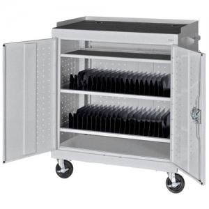Mobile Tablet Storage Cart Multi Granite MTS362437MG