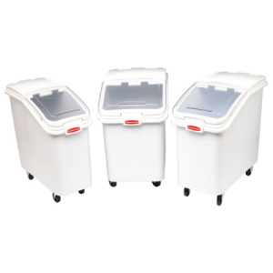 Rubbermaid-White Slant Front Ingredient Bin with Sliding Lid and 32 Ounce Scoop, 4 1/8 cu ft. at Sears.com