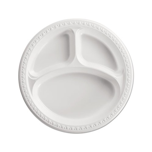 Heavyweight Plastic 3 Compartment Plates