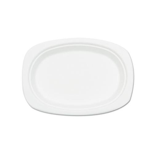 Compostable Sugarcane Bagasse Oval Plate