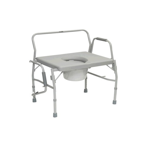 Bariatric Drop Arm Commode for Easy Transfer,
