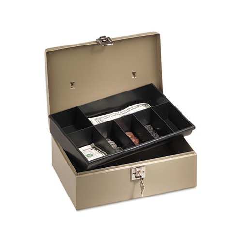 Lock'n Latch Steel Cash Box w/7 Compartments