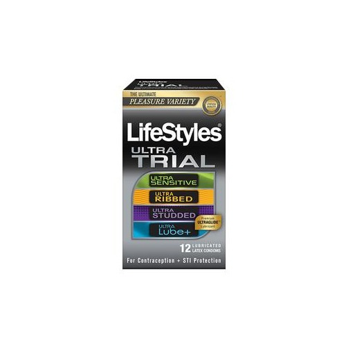Lifestyles Ultra Latex Condom Trial Pack, 12