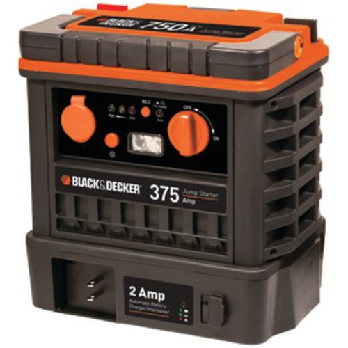 BLACK AND DECKER J752BCB 750-Amp (Peak) Jump Starter with 2-Amp Maintainer
