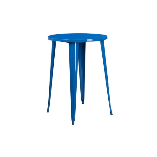 30RD Blue Metal Bar Table