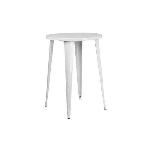 30RD White Metal Bar Table