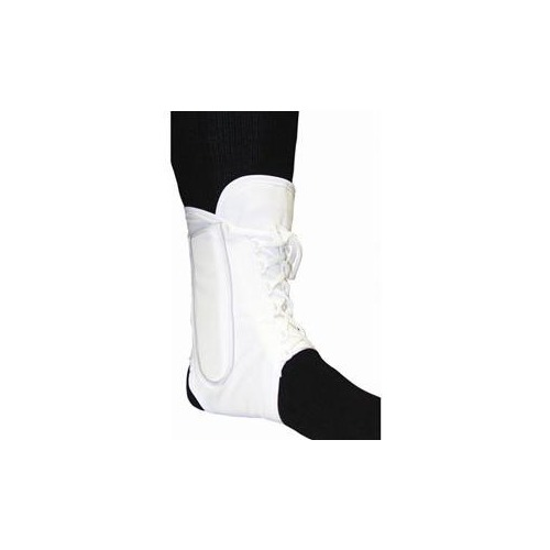 Bell-Horn Lightweight Lace-Up Canvas Ankle Brace, Small