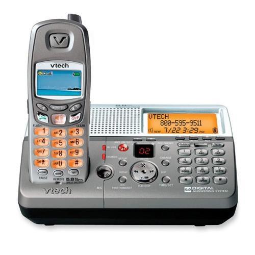 VTech MI6879 RF 5.80 GHz Cordless Phone - Silver - Cordless - 1 x Phone Line