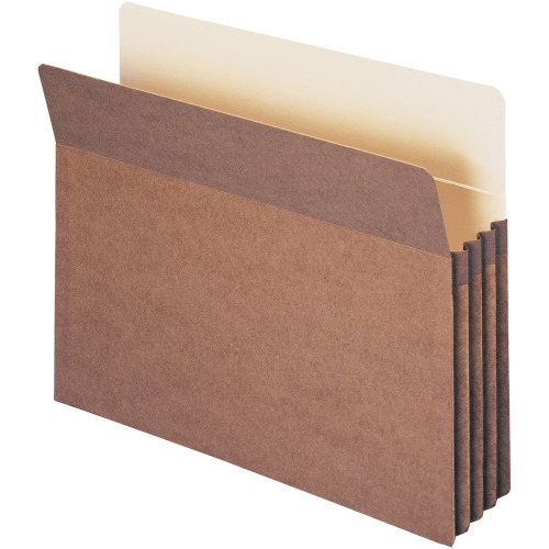 "Smead Redrope File Pockets - Letter - 9 1/2"" x 11 3/4"", 8 1/2"" x 11"" Sheet Size - 3 1/2"" Expansion - Top Tab Location - 12.5 pt. Folder Thickness - Redrope, Kraft - Red - Recycled - 25 / Box"