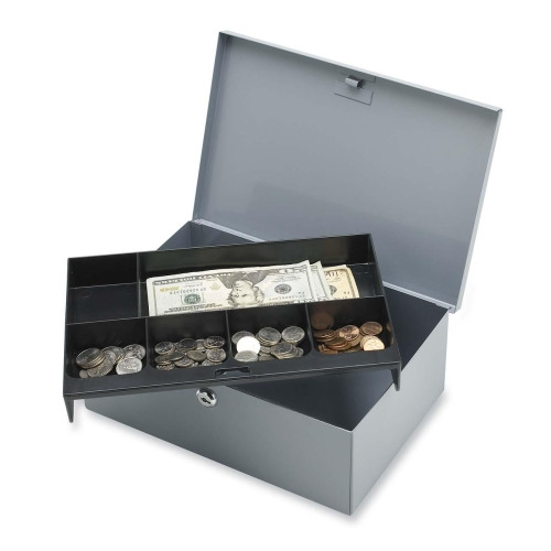 Sparco All-Steel 6 Compartment Tray Cash Box