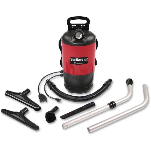 Sanitaire SC412A Backpack Vacuum Lightweight HEPA Filter Deadly/Red