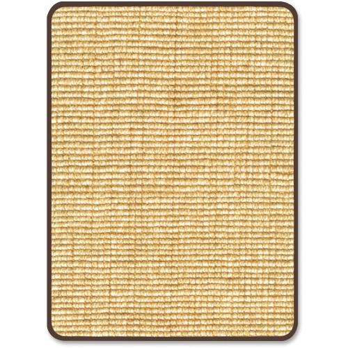 "Deflect-o Harbour Pointe Chunky Wool Jute Decorative Chairmat for Hard Floors - Hard Floor, Wood Floor, Tile Floor, Vinyl Floor - 60"" Length x 46"" Width - Rectangle - Vinyl - Tan"