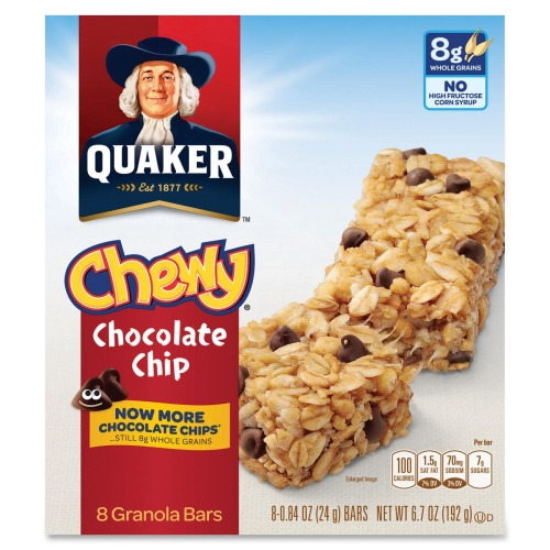 Quaker Oats Foods Chocolate Chip Chewy Granola Bar