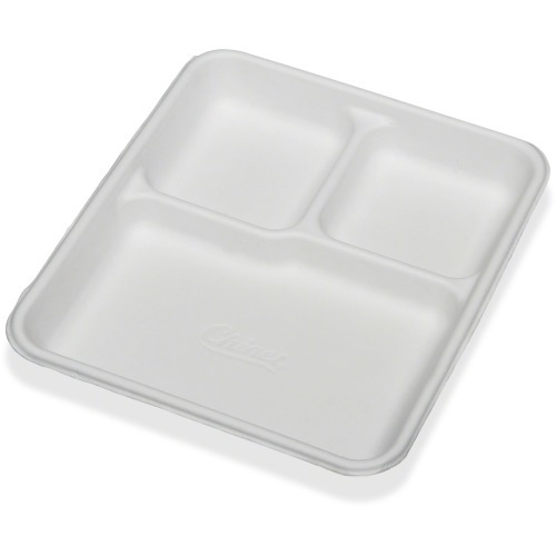 SKILCRAFT 3 Compartment Disposable Plates