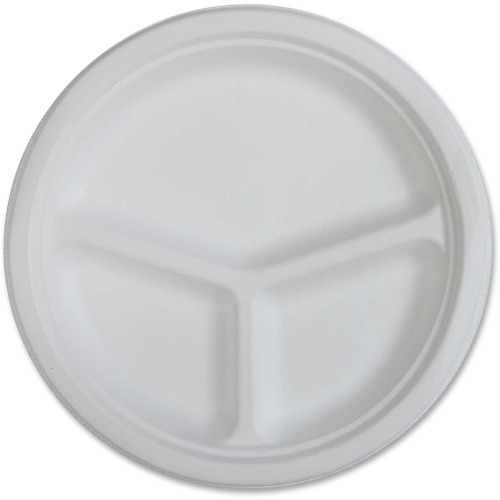 Genuine Joe 3-compartment Disposable Plates