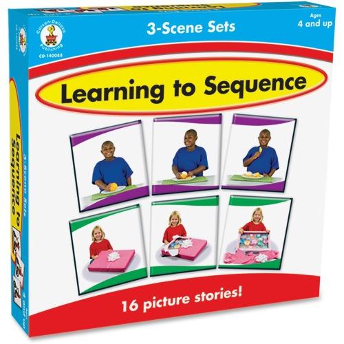 Carson-Dellosa Learning To Sequence 3-scene Board Game