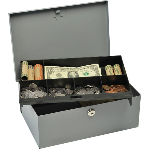 MMF Heavy-gauge Steel Cash Box with Security