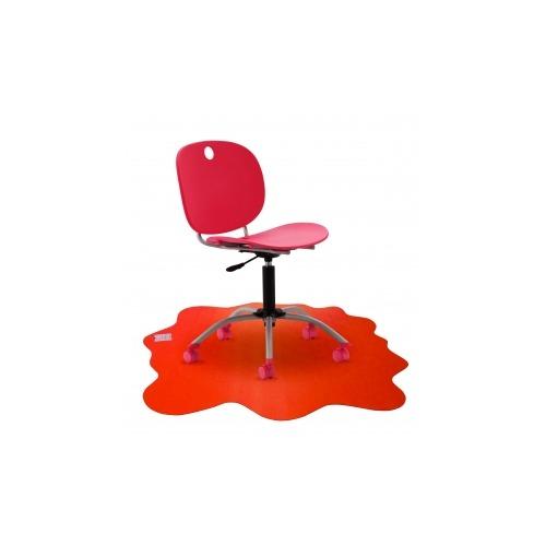Cleartex Sploshmat Floor Protection Mat  for hard floors. Volcanic Red. 40 x 40  (max)