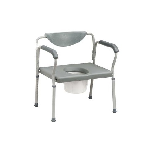 Deluxe Bariatric Commode, Assembled, Grey