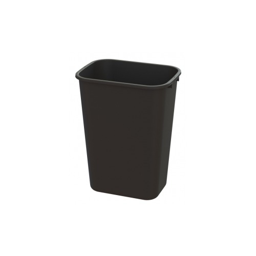 41 Qt. Waste Basket, Black