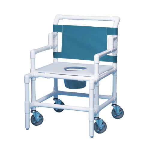 Bariatric Shower Commode Chair With Arms PVC