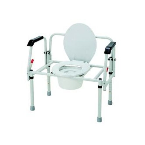 Bariatric 3-In-1 Commode Fixed Arms Steel 16-1/2