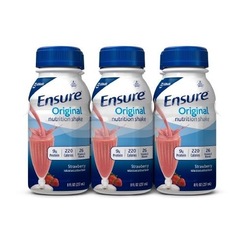 Oral Supplement Ensure Original Strawberries and Cream