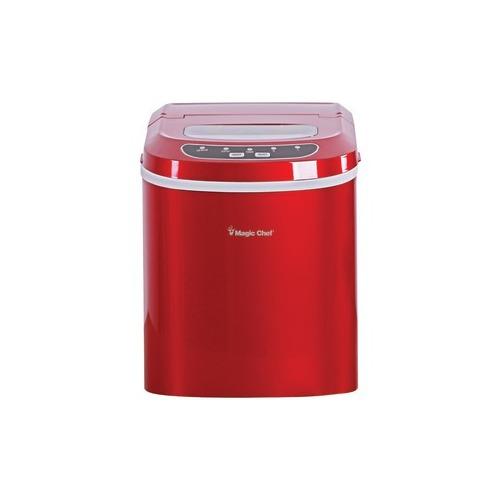 MAGIC CHEF MCIM22R 27lb-Capacity Ice Maker (Red)