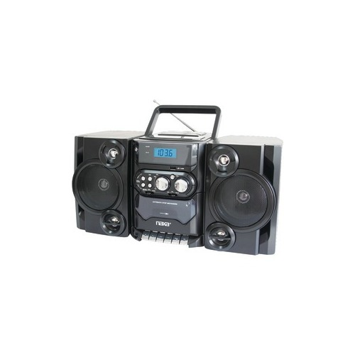 NAXA NPB428 Portable CD MP3 Player with AM FM Radio, Detachable Speakers, Remote & USB Input