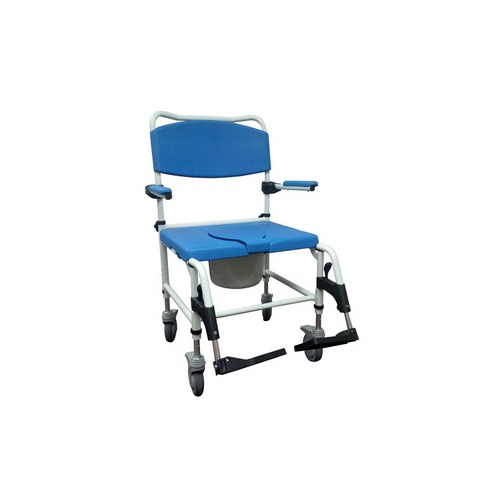 Aluminum Bariatric Rehab Shower Commode Chair with