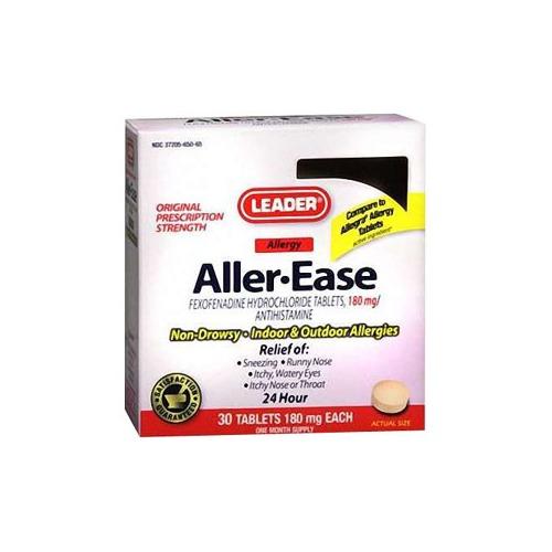 Leader Aller-Ease Tablets, 180 mg (30 Count)