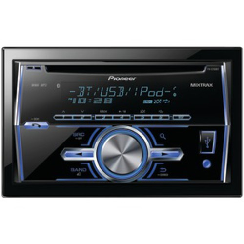 Pioneer FH-X700BT Car CD/MP3 Player - 56 W RMS - iPod/iPhone Compatible - Double DIN - LCD Display - CD-RW - CD-DA, MP3, WAV, WMA - FM, AM - 18, 6 x FM, AM Preset - Bluetooth - USB - Auxiliary Input - Detachable Front Panel