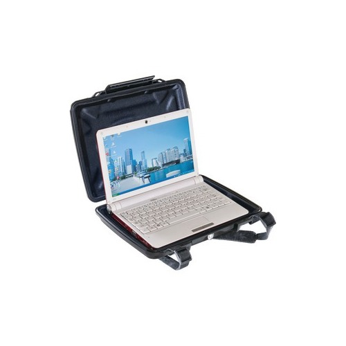"""Pelican HardBack 1075CC Carrying Dispute for Notebook - Black - Dust Proof, Chemical Resistant, Corrosion Proof, Crush Stay - Plush Interior, Foam Interior - Shoulder Strap - 12.4"""" Height x 9.8"""" Range x 2.1"""" Depth"""